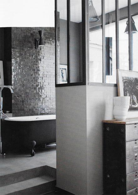 salle bain zellige noir blanc roquefort-les-pins